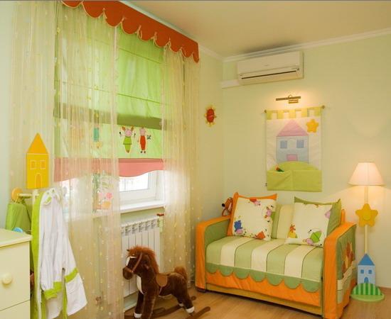 Увеличить шторы для детской девочки